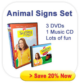 Signing Time Animals Signs DVD Set - Volumes 7-9