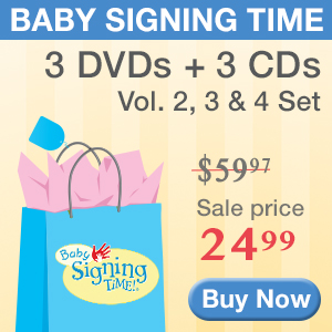 Get 3 Baby Signing Time DVD and CDs for just $24.99! Buy now