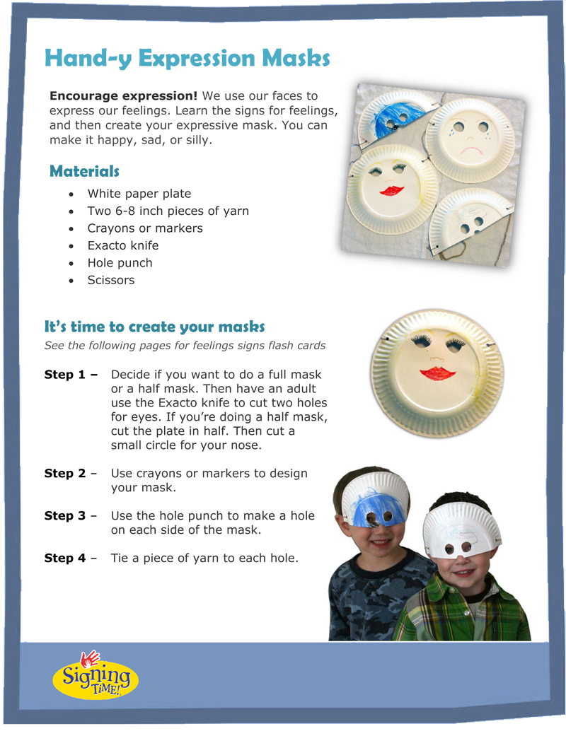 December Hand-y Craft: Expression Masks