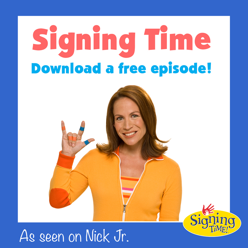 Signing Time Free Episode Graphic