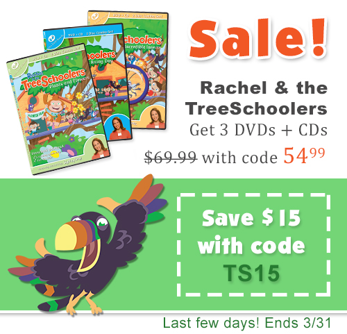 TreeSchoolers Sale - Get $15 off all 3 DVDs with coupon code TS15